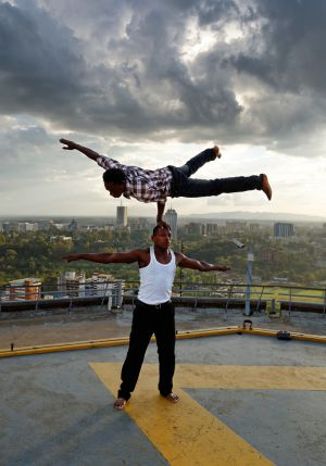 Acrobats on KCC helipad I
