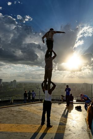 Acrobats on KCC helipad II